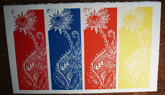 IANS PRINTS Wood And Lino Cut Prints By Ian Millard Slugwaterhotmail Keller Williams 04 08 06 Denver CO 5 Color Linocut